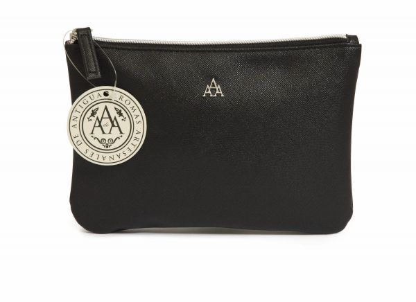 Triple AAA Clutch Purse Small Black